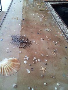 resina epoxi passadeira conchas