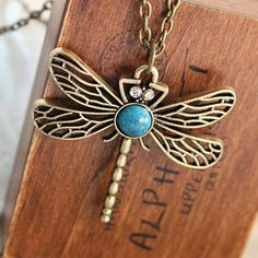 Hollow Dragonfly Necklace - WeArePretty