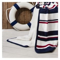 Regatta Stripe Throw #meyerandmarsh #throw #blanket