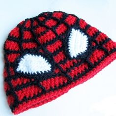 Crochet Spiderman hat - free pattern