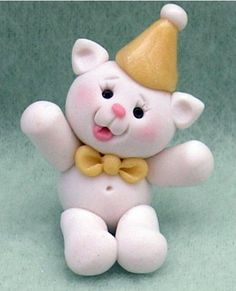 Birthday Buddies Miniature Kitty Birthday Cake or Cupcake Topper 1 inch tall. $9.95, via Etsy.