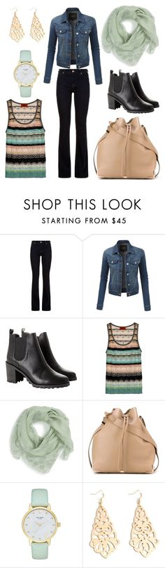 """""""Would you like?"""" by helena-italian-fashion ❤ liked on Polyvore featuring 7 For All Mankind, LE3NO, Monki, Alexander McQueen, Alexander Wang and Kate Spade"""