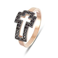 Cross Ring rose and black zircon Cross Jewelry, My Heart, Rose Gold, Jewels, My Style, Rings, Collection, Black, Jewerly