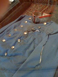 The Archduke Francis Ferdinand's bloodstained tunic after his assassination at Sarajevo in June of 1914.