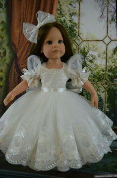 Baby Girl Dress Patterns, Wedding Dress Patterns, Doll Clothes Patterns, American Doll Clothes, Girl Doll Clothes, Girls Dresses Sewing, Flower Girl Dresses, Doll Fancy Dress, Kids Summer Dresses