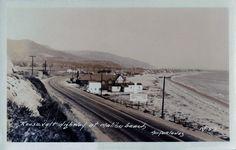 Roosevelt Highway, Malibu, CA -- Postcard Malibu,California.