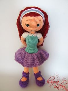 PATTERN - Alicia Doll (crochet, amigurumi)