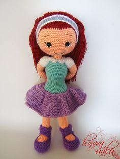 PATTERN Alicia Doll crochet amigurumi by HavvaDesigns on Etsy