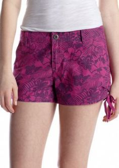 BeBop  Cinched Tropical Printed Short