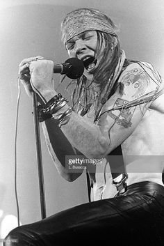 Axl Rose of Guns 'n' Roses performs in concert at the Ritz on February 2, 1988 in New York City.