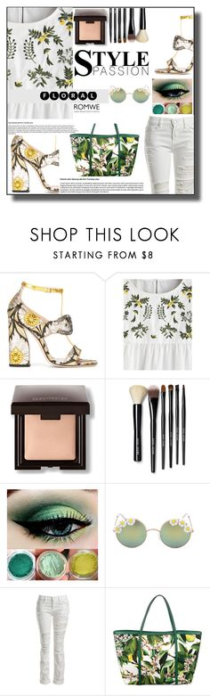 """""""Floral Fashion"""" by sabine-713 ❤ liked on Polyvore featuring Gucci, Laura Mercier, Bobbi Brown Cosmetics, Full Tilt, Sans Souci and Dolce&Gabbana"""