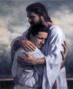 Jesus' embrace...I could use his hugs every day on this earth!