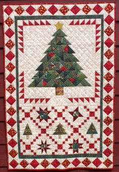 "Christmas Tree Crossing, 40"" X 60"", at August Wind Quilt Designs"