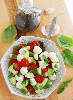 The Comfort of Cooking » Chopped Cucumber Caprese Salad
