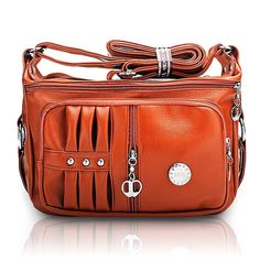 """Item Type:  Crossbody Bags   Number of Handles/Straps:  Single Color:As the Picture  Material:PU Leather  Length:  26cm(10.24"""")   Width:  11cm(4.33"""")   Height:  20cm(7.87"""")   Shape:  Pillow   Pattern Type:  PU Leather   Interior:  Interior Slot Pocket   Inner structure : Zipper Secret Pocket, Cell Phone Pocket, Credential Pocket   Closure Type:  Zipper                       Package include: 1 *  Bag"""
