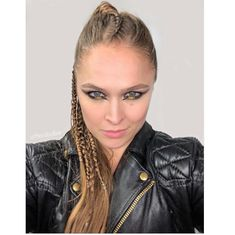 Last night's hair by and makeup by jacket Shirt Shoes Leggings Ronda Rousey Hot, Ronda Jean Rousey, Wwe Female Wrestlers, Female Athletes, Ronda Rousey Photoshoot, Rhonda Rousy, Rowdy Ronda, Ufc Women, Wwe Womens