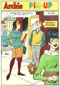 Archie Pin Up, Archie Comic Publications, Inc. https://www.pinterest.com/citygirlpideas/archie-comics/