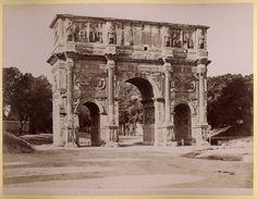 Roma. Arco Trionfale di Costantino visto dal Colosseo 1875-1890