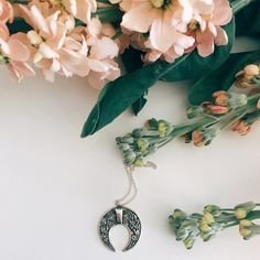 Sterling silver crescent moon necklaces inspired from Bali