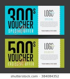 Gift voucher template with market special offer. Two side of discount voucher or gift certificate layout. Gift Vouchers, Certificate Layout, Gift Voucher Design, Passport Template, Halloween Party Poster, London Poster, Gift Coupons, Customer Appreciation, Coupon Design