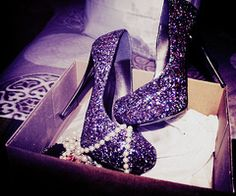 6cb3e25a97a89e purple shoes - I have a pair of volley style shoes I think I could glitter  up for the walk!