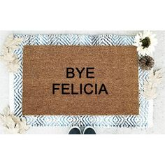 Ebern Designs Verdugo Bye Felicia Coir 30 in. x 18 in. Non-Slip Indoor Door Mat Cheap Wall Decor, Cheap Home Decor, Christmas Doormat, Front Porch Signs, Front Doors, Indoor Door Mats, Funny Doormats, Babysitters, Picture Places