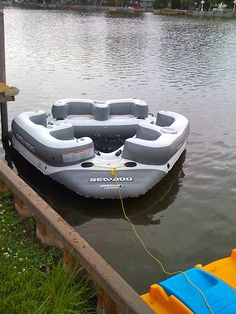 Towable behind the pontoon This looks like a fun lake toy. Inflatable Island, Lake Floats, Lake Toys, Cool Boats, Ski Boats, Boat Stuff, Floating In Water, Water Life, Jet Ski