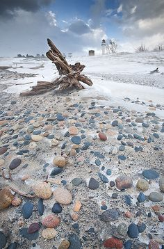Whitefish Point, Lake Superior, Upper Peninsula, MI USA.