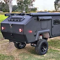 This go-anywhere extreme off road camper trailer will take your camping trip to the next level. Meet the 'Bruder It's a uniquely designed camper Expedition Trailer, Overland Trailer, Truck Camping, Camping Gear, Hiking Gear, Camping Trailer Diy, Camping Set Up, Backpacking Meals, Camping Hammock