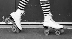 Patines de bota de cuatro ruedas (no en hilera) 80's