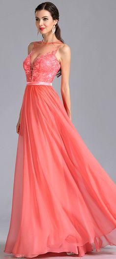 [USD 179.99] eDressit Sleeveless Coral Evening Dress Prom Dress (00155057)