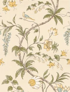 Chambalon , a feature wallpaper from Zoffany, featured in the Trade Routes collection.