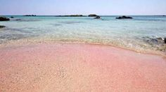 White sand and turquoise water used to be enough to get us excited about going to the beach but these 14 strips of sand are like nothing we've ever seen. Mykonos, Santorini, Pink Sand Beach, Ocean Beach, Canadian Travel, Hotels, Bahamas, Crete Greece, Beaches In The World