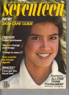 April 1979 cover with fifteen-year-old Phoebe Cates flaunting her braces.