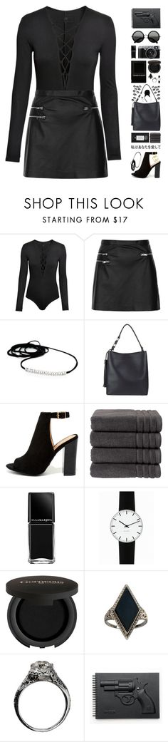 """""""☹ the end. ☹"""" by pastelmalfoy ❤ liked on Polyvore featuring H&M, Topshop, Bamboo, Christy, Illamasqua, Rosendahl, The Row, Gorgeous Cosmetics, Gypsy and Revolver"""