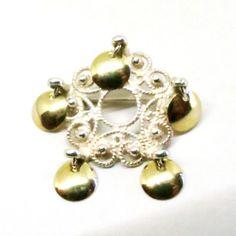 Sterling Wedding Brooch - Vintage, Norwegian, Solje Silver, Open Work Pin by MyDellaWear on Etsy $36