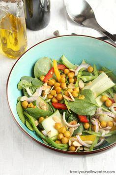 Turmeric & Honey Roasted Chickpea Salad - Treat Yourself Sweeter