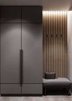 Possible combination of colours for concealed bomb shelter wall Hall Wardrobe, Wardrobe Door Designs, Wardrobe Design Bedroom, Wardrobe Doors, Wardrobe Ideas, Home Entrance Decor, House Entrance, Entryway Decor, Entryway Tables