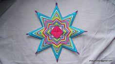 .: mandalas trip :.: Taller mandalas de Hilo. Primer Sendero. Tejer Mandalas. God's Eye Craft, Gods Eye, Rainbow Crafts, Diy Wall Art, Mandala Art, String Art, Chakra, Dream Catcher, Hand Weaving