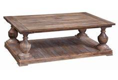 "Edward Rectangular Coffee Table 4""W x 34""D x 19""H"
