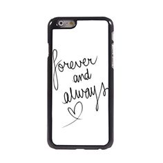 KARJECS iPhone 6 Case Cover Forever and Always Characteristic Quote Metal Hard Case Cover Skin for iPhone 6 KARJECS http://www.amazon.com/dp/B0142GH3MA/ref=cm_sw_r_pi_dp_GfS1vb0YMQV3M