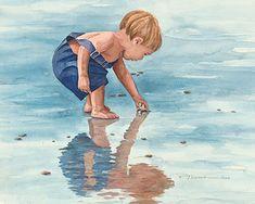 Pamela Alderman watercolor.... love the reflection.