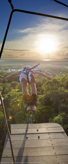 Bungee jumping in the rainforest: vacation goals. Make it happen in Caims, Australia.