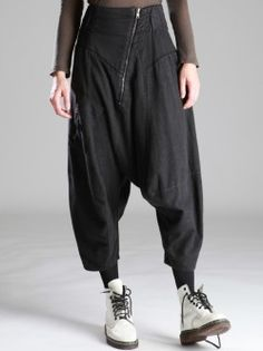 FLANNEL BALOON TROUSERS WITH LYCRA ON TOP PART