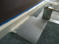 Use plastic cutting boards from the $ store when painting trim to avoid getting paint on carpet