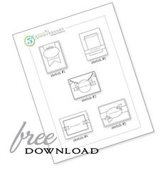 free card making template download from Papertrey Ink.
