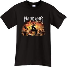 Heavy Metal Band T-Shirts | MANOWAR Heavy Metal Rock Band Black Tshirt |