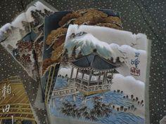 Japanese Vintage Kimono,HAORI, SILK,Black, Men's, P110364  | eBay