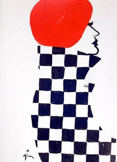 Rene Gruau Fashion Illustrations Very different to all my other illustrations as it's very bold.  Use of solid shapes to create their image.