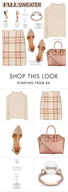"""""""Cozy Fall Sweaters"""" by pearlparadise ❤ liked on Polyvore featuring Tom Ford, MARC CAIN, Charlotte Russe, Givenchy, StyleNanda, contestentry, fallsweaters, pearljewelry and pearlparadise"""